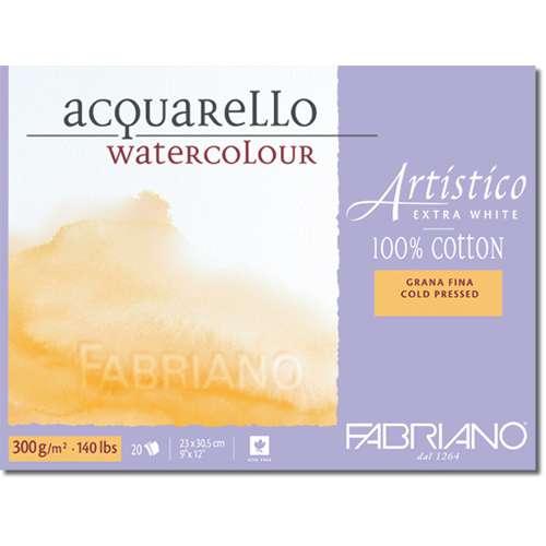 "FABRIANO® ""Artistico"", extraweiß Bütten-Aquarellkarton"