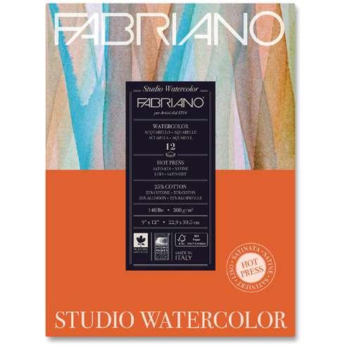 FABRIANO® Watercolour Studio, HOT PRESS Aquarellpapier