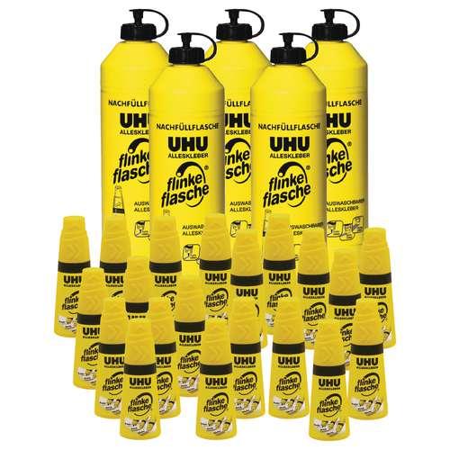 UHU Flinke Flasche im Paket Alleskleber für Großverbraucher