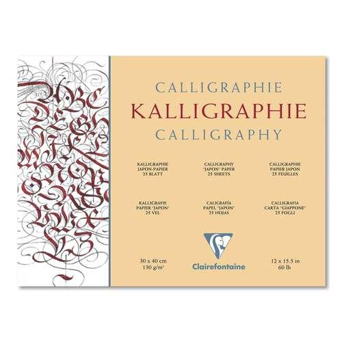 CLAIREFONTAINE Kalligrafieblock aus Japan-Papier