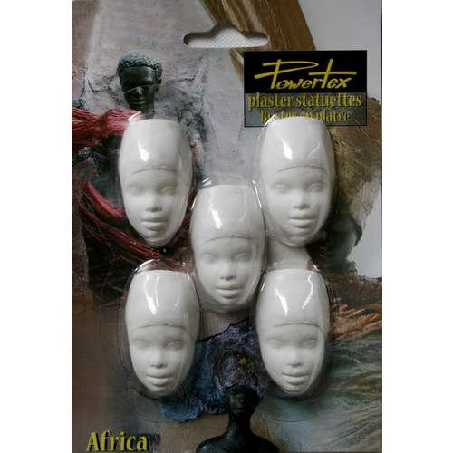 POWERTEX® African Lady halbe Gipsköpfe