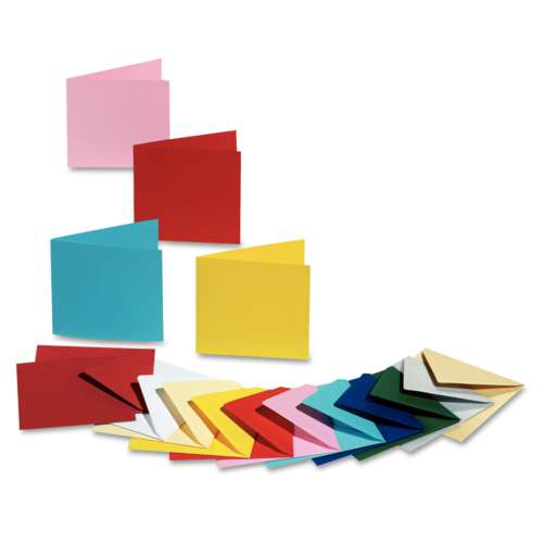 FOLIA® Doppelkarte, quadratisch