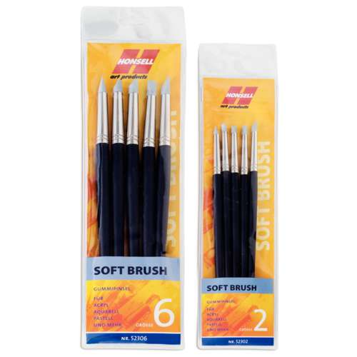 HONSELL Soft Brush-Sets Gummipinsel