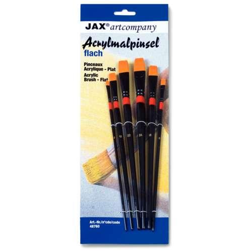 JAX® artcompany Acrylmalpinsel-Set, flach