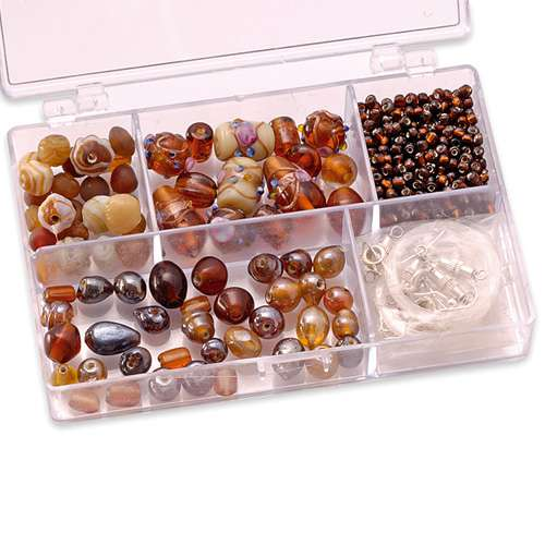 Glasperlen Sortimentsboxen, klein