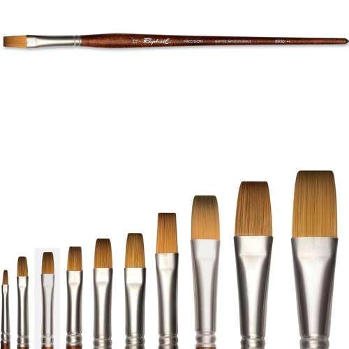 Raphaël® Precision Öl und Acryl Pinsel Serie 8930, Flachpinsel