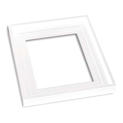 I LOVE ART Schattenfugenrahmen Weiß