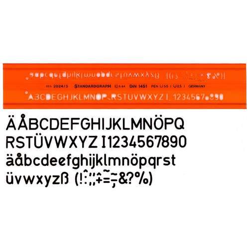 STANDARDGRAPH Schriftschablonen Buchstabenschablonen