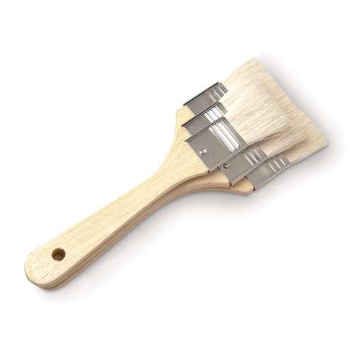 Flachpinsel aus Ziegenhaar 3-er Set