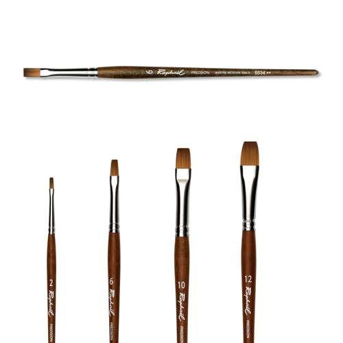 Raphaël® Precision Aquarellpinsel Serie 8534, Flachpinsel