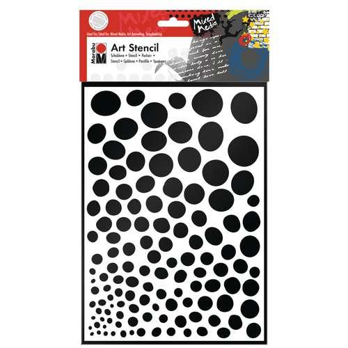 Marabu Art Stencil Growing Dots