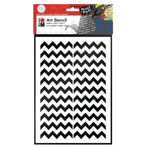 Marabu Art Stencil Chevron Pattern