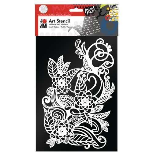 Marabu Art Stencil Zen Doodle
