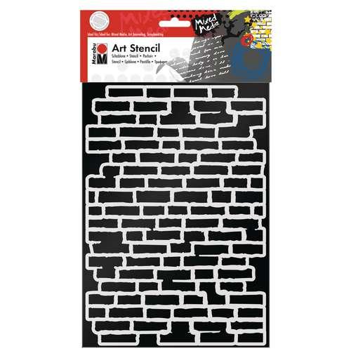Marabu Art Stencil Bricks