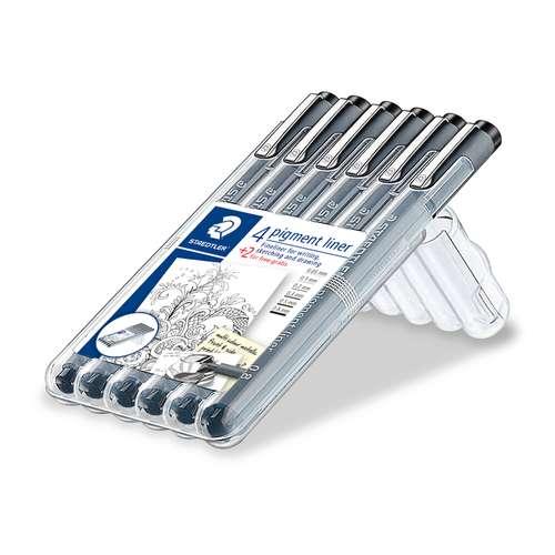 STAEDTLER® Pigment Liner 308, 6er Etui Fineliner