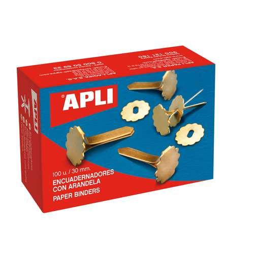 APLI Musterklammern mit Ring, 100 Stück