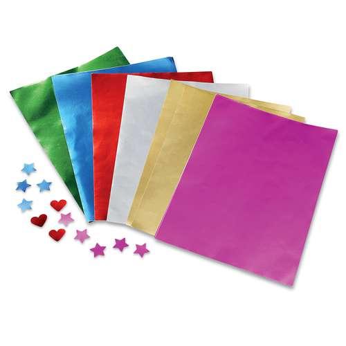 Alu-Bastelfolie, DIN A4, 100 Blatt farblich sortiert