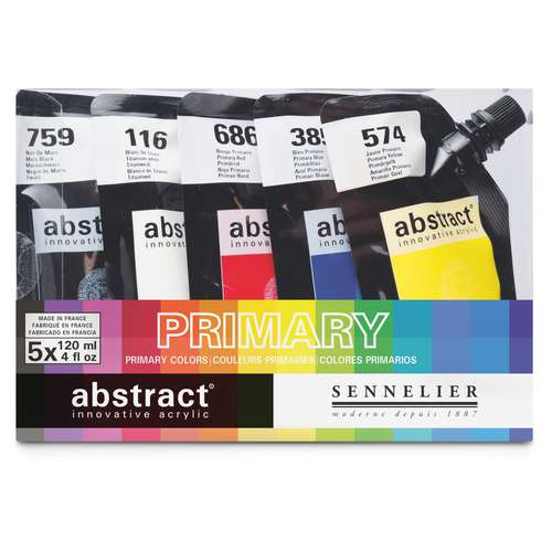 SENNELIER abstract® Primärfarben-Set, 5 x 120 ml
