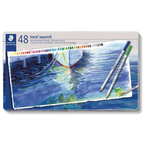 STAEDTLER® karat® Aquarell Aquarellstifte im Metalletui