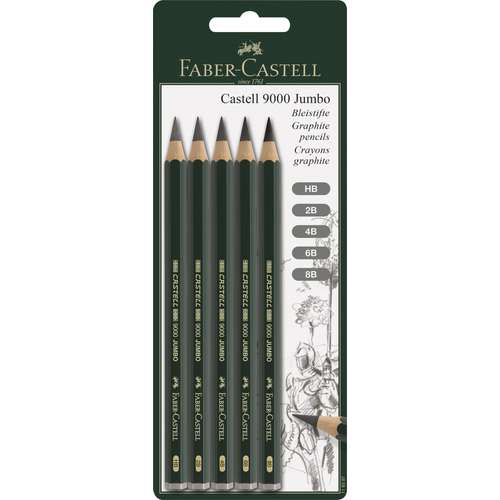 FABER-CASTELL 9000 JUMBO Set Bleistifte