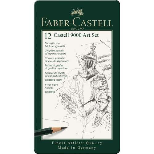 CASTELL 9000 Bleistift-Sets, verschiedene Härtegrade
