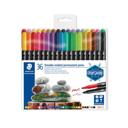 STAEDTLER®  3187 Double-ended permanent pens
