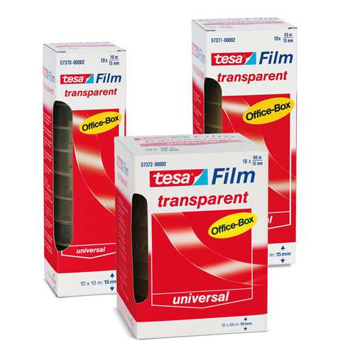 TESAFILM® Transparent Office-Box 10-er Pack