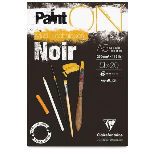 CLAIREFONTAINE Paint ON Zeichenpapier, schwarz