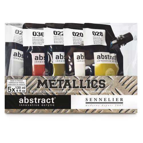SENNELIER abstract® Metallicfarben-Set, 5 x 120 ml