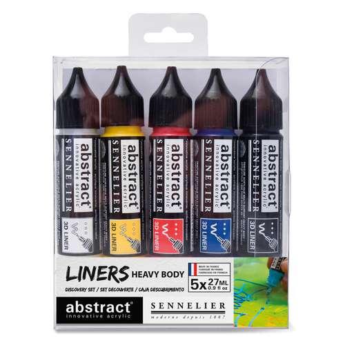 SENNELIER abstract® Liner Primärfarben Set, 5 x 27 ml