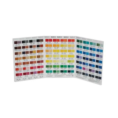 BLOCKX Ölfarben Farbkarte