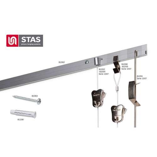 STAS J-Rail Set Bildaufhängesystem