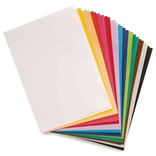 CLAIREFONTAINE MAYA farbiges Bastelpapier, 28er-Sortiment lebhafte Farbtöne