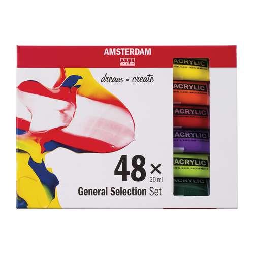 "TALENS AMSTERDAM Acrylfarbe ""Standard Series"" 48er-Set"
