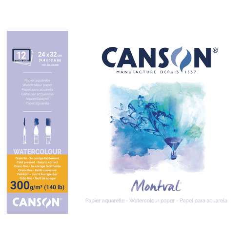 CANSON® Montval® Aquarellkarton, 300 g/qm