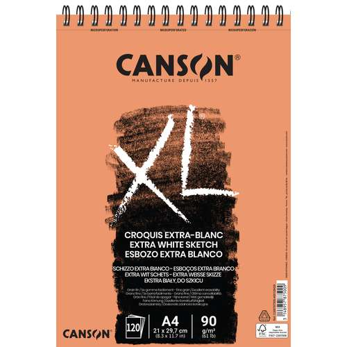 CANSON® XL® Extra Weiß - Skizzen- und Studienblock