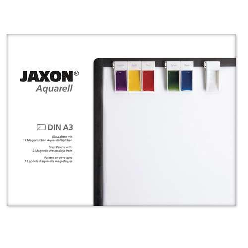 JAXON® Glaspalette mit 12 magnetischen Aquarell-Näpfchen