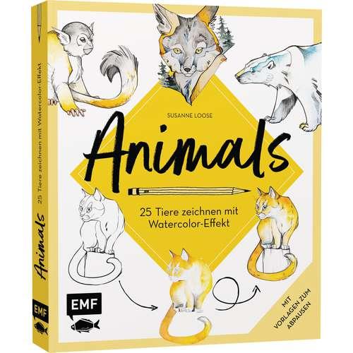 Animals - 25 Tiere zeichnen mit Watercolor-Effekt