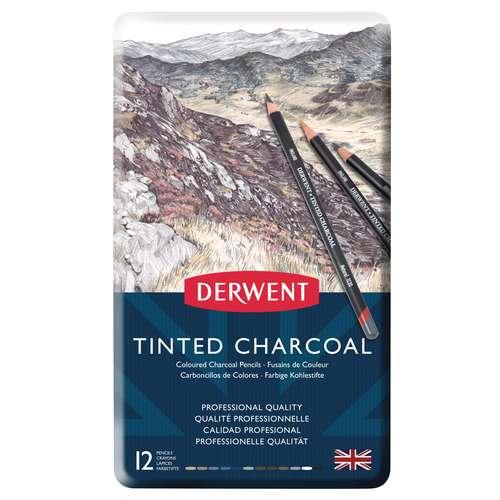 DERWENT Tinted Charcoal Kohlestifte-Set